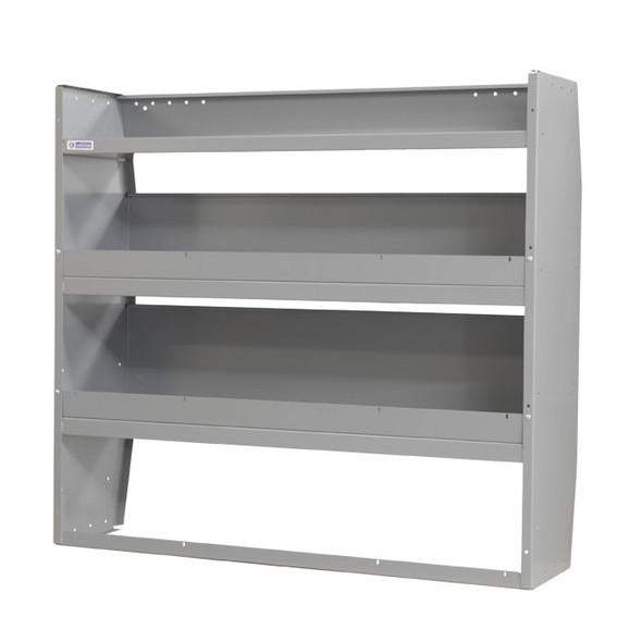 """Adrian Steel  #4450 50"""" Welded 3-Shelf Unit, Gray"""