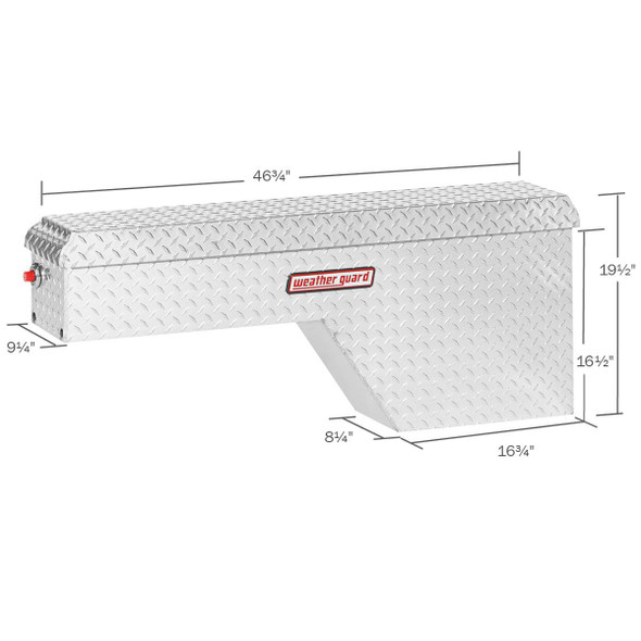 WeatherGuard Model 171-X-01 Pork Chop Box, Aluminum, Passenger Side, 2.1 cu ft