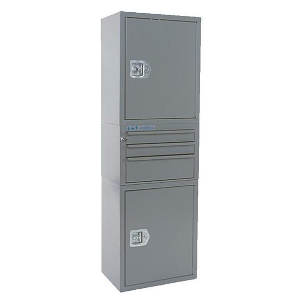 Adrian Steel #MD601 Cabinet & Drawer Module, 18w x 56h x 12d, Gray