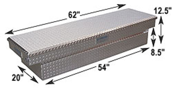 Adrian Steel #AD160 Aluminum Single Lid Crossbox, 62w x 12.5h x 20d