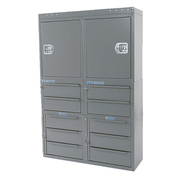 Adrian Steel #MD605 Cabinet & Drawer Module, 36w x 54h x 12d, Gray
