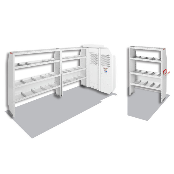 Weather Guard Model 600-8210L Commercial Shelving Van Package, Mid-Roof, Ford Transit, 148 WB