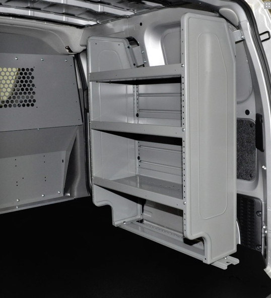 Adrian Steel #4964 - Dual Shelf Starter Package, Gray, City Express, NV200