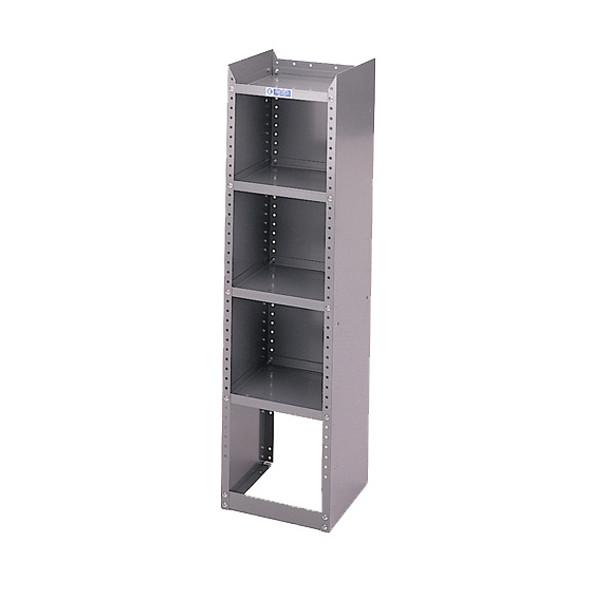 Adrian Steel #33 4-Shelf Unit, 12w x 46h x 12d, Gray