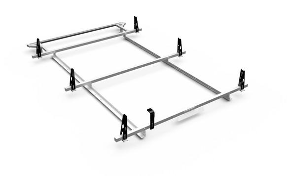 Adrian Steel 3BARRFT2-W 3-Bar Utility Rack w/ Rear Roller, White, Transit Low Roof