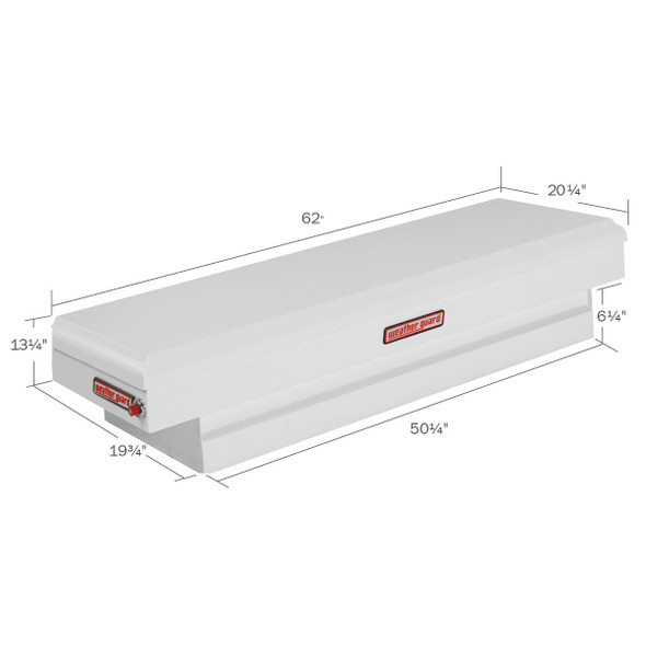 WeatherGuard Model 156-3-01 Saddle Box, Steel, Compact Standard, 6.4 cu ft