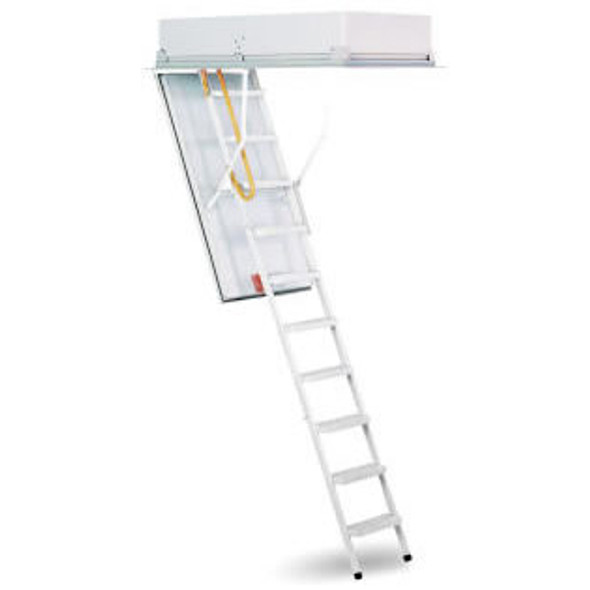Rainbow ProTech PT2351 Attic Ladder |  30-Minute Fire Rated  | 23.5 Inches x 51.25 Inches Opening | 8-10 Foot Ceiling Heigth | 350 lb Capacity