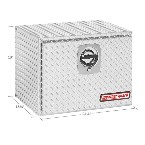 Weather Guard Model 627-0-02 Underbed Box, Aluminum, Compact, 4.3 cu ft
