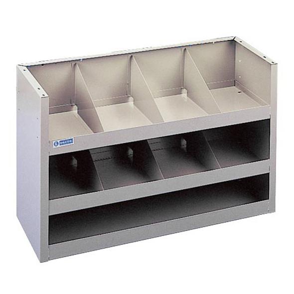 Adrian Steel #18 Welded 3-Shelf Unit w/ Dividers, 36w x 22h x 12d, Gray