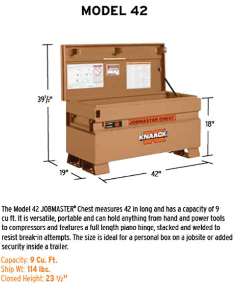 Knaack Model 42 JOBMASTER Chest, 9 cu ft