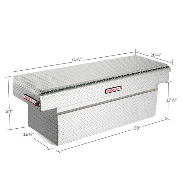 Weather Guard Model 123-X-01 Saddle Box, Aluminum, Full Extra Deep, 15.1 cu ft
