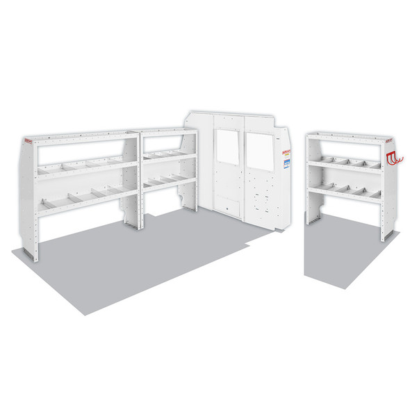 Weather Guard Model 600-8130R Commercial Shelving Van Package, Full-Size, NV2500, 130 WB