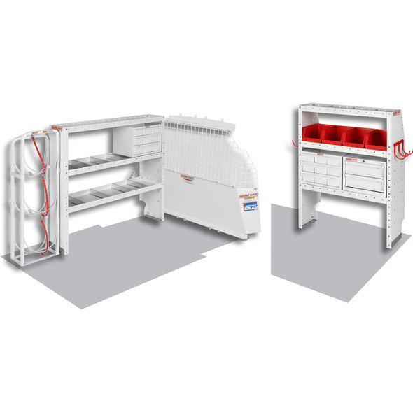 "Weather Guard Model 600-8313L HVAC/ Mech Van Package, 2014 Ford Transit Connect, LWB 120"""