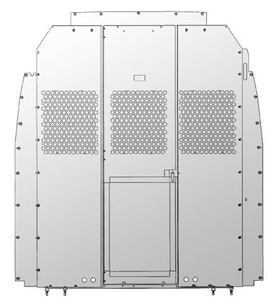 Adrian Steel #S2M2HC2SPH Steel Partition Panel Kit w/ Visibility & Door Kit, Gray, Sprinter High Roof