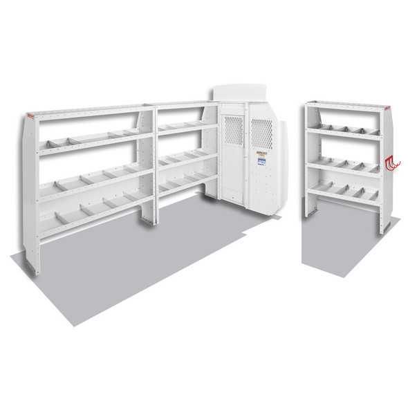 Weather Guard Model 600-8410L Commercial Shelving Van Package, High-Roof, Ford Transit, 148 WB