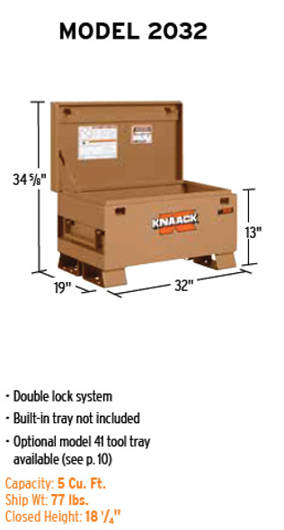 Discontinued | See item #2032-BB | Knaack Model 2032 CLASSIC Chest, 5 cu ft