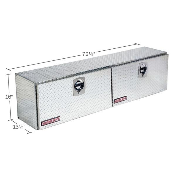 WeatherGuard Model 372-X-02 Hi-Side Box, Aluminum, Driver Side, 8.9 cu ft
