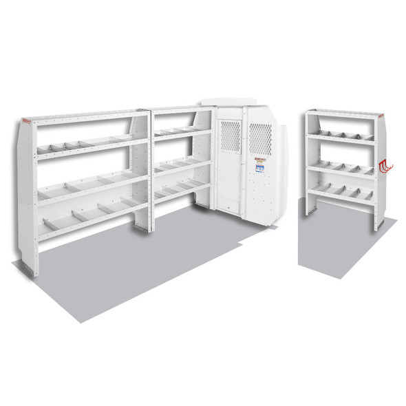 Weather Guard Model 600-8210R Commercial Shelving Van Package, Mid-Roof, Ford Transit, 130 WB