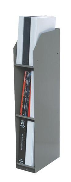 Adrian Steel #43 3-Shelf Literature Rack, 5.8w x 34h x 12d, Gray