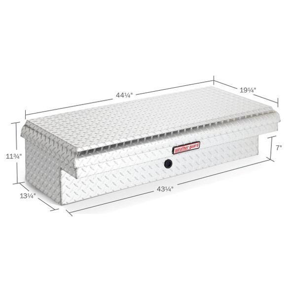 WeatherGuard Model 180-X-01 Lo-Side Box, Low Profile Driver Side, Aluminum, Short, 3.2 cu ft