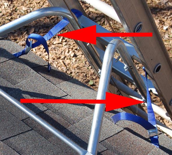 Tranzsporter 13809 Extension Ladder and Hoist Track Anchor Straps ONLY