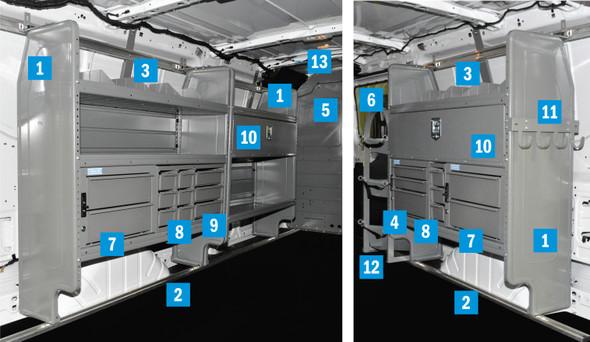 "Adrian Steel 4318TL148 - PHVAC Repair Package | Ford Transit Low Roof, 148"" WB"