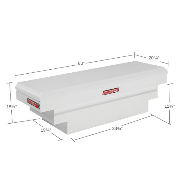 Weather Guard Model 136-3-01 Saddle Box, Steel, Compact Deep, 8.9 cu ft