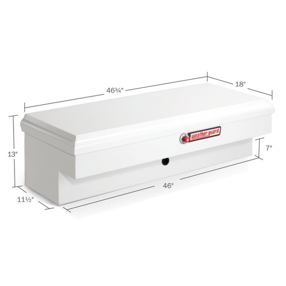 WeatherGuard Model 186-3-01 Super Lo-Side Box, Steel, Short, 4.5 cu ft