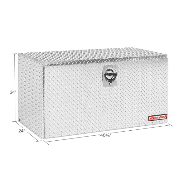 WeatherGuard Model 650-0-02 Underbed Box, Aluminum, Jumbo, 16.0 cu ft