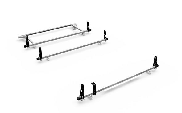 Adrian Steel 3BARRNV2-W 3-Bar Utility Rack w/ Rear Roller, White, NV Low Roof
