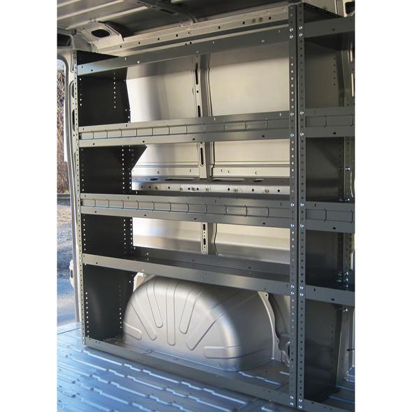 Adrian Steel #HD5059 4-Shelf Unit, 50w x 59h x 14d, Gray