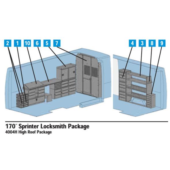 """Adrian Steel 4004H Sprinter Interior Locksmith Package - 170"""" Wheelbase #4004H"""