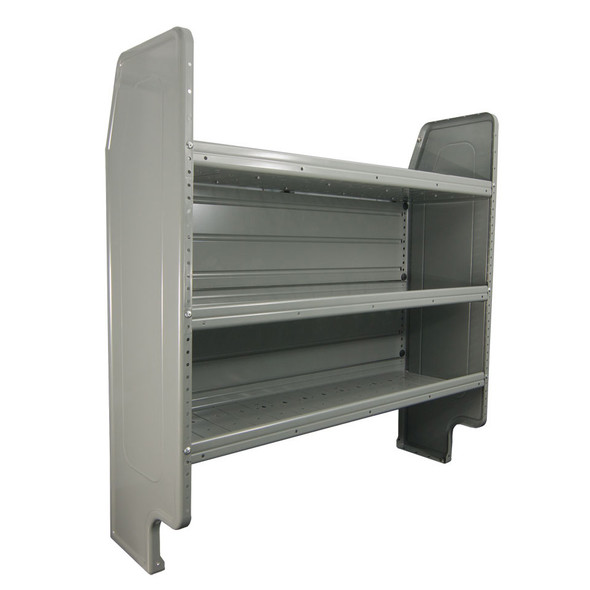 Adrian Steel #AD44FP Adjustable 3-Shelf Unit, 44w x 46h x 14d, Gray / Ford Transit