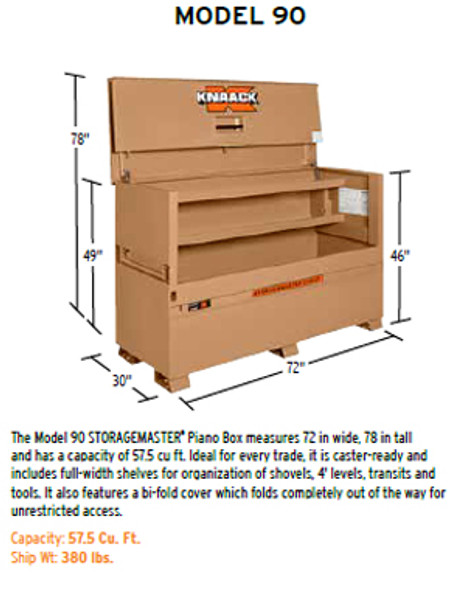 Knaack Model 90 STORAGEMASTER Piano Box, 57.5 cu ft