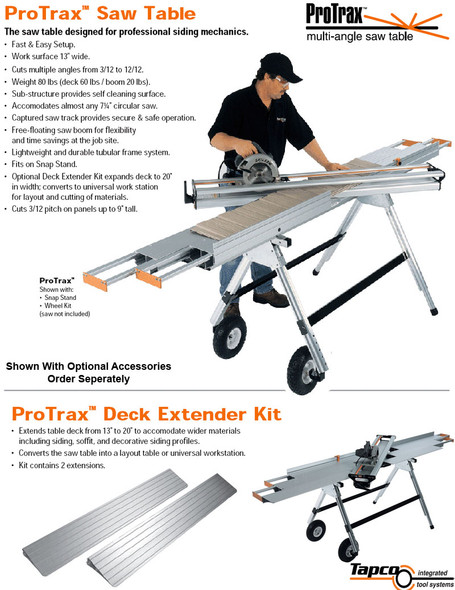 Tapco Siding Tools ProTrax Saw Table