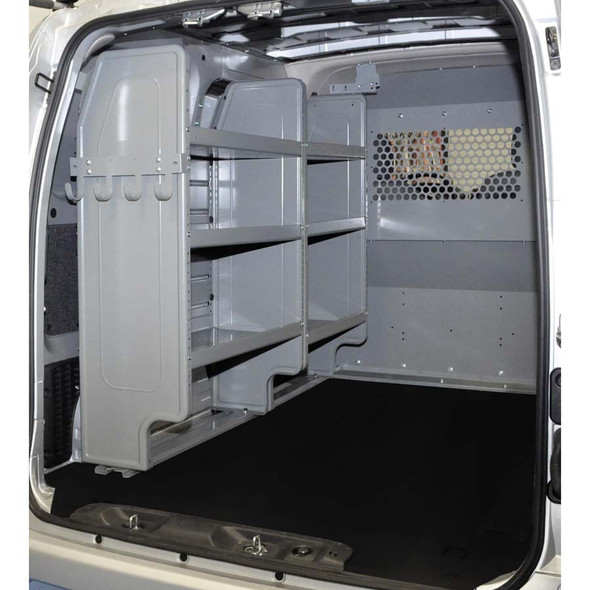 Adrian Steel #4966 - Triple Shelf Starter Package, Gray, City Express, NV200