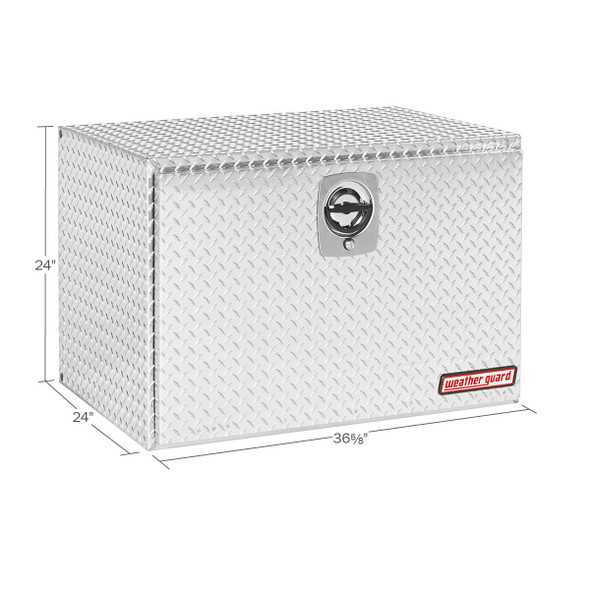 WeatherGuard Model 638-0-02 Underbed Box, Aluminum, Jumbo, 12.2 cu ft