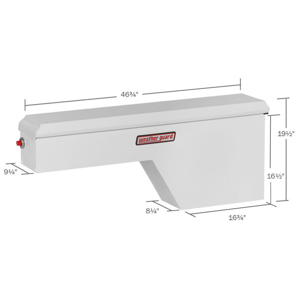 WeatherGuard Model 161-3-01 Pork Chop Box, Steel, Passenger Side, Standard, 2.1 cu ft