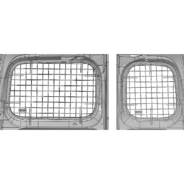Adrian Steel #60-NV2 Rear Doors Security Screen Kit, Gray, City Express, NV200