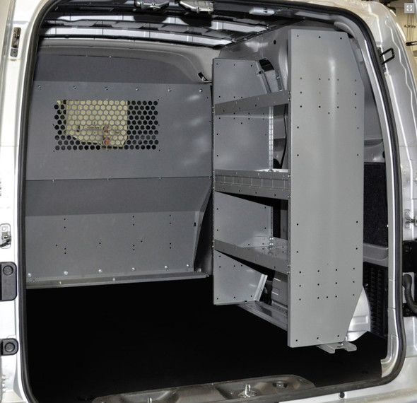Adrian Steel #4967 Triple Shelf Starter Package, Gray, City Express, NV200