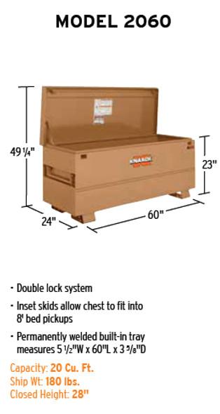 Knaack Model 2060 CLASSIC Chest, 20 cu ft
