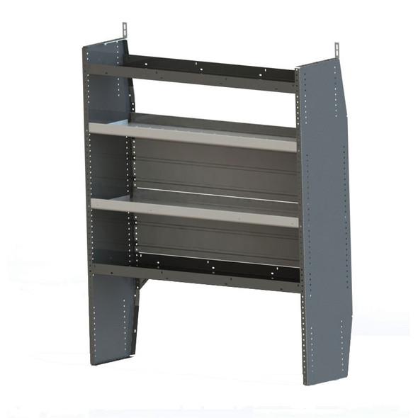 Adrian Steel #HAD4459 Hybrid 4-Shelf Unit, 44w x 59h x 14d, Gray