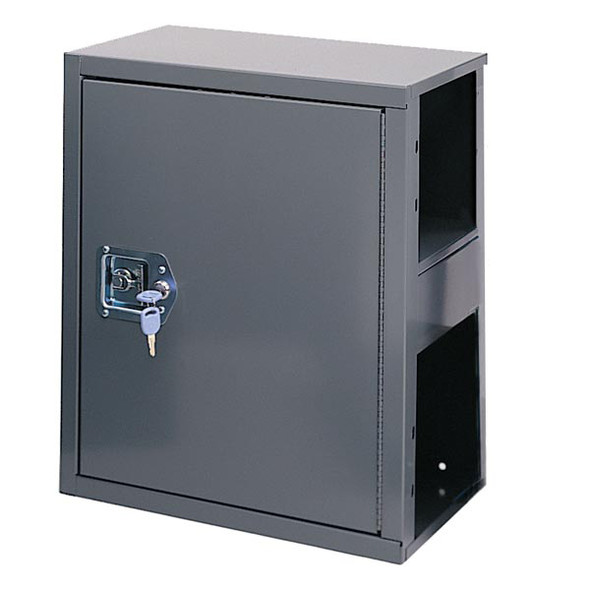 Adrian Steel #12 Adjustable Single Shelf Cabinet w/ Lock, 18w x 22h x 12d, Gray