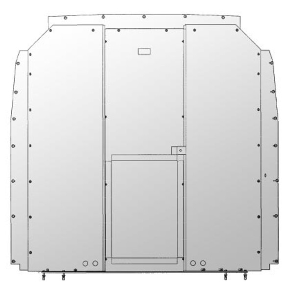 Adrian Steel #S1M1C1SPS Steel Partition Panel Kit, Gray, Sprinter Low Roof