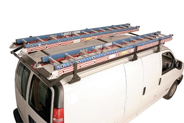 Adrian Steel #VP1 Perimeter Ladder Rack, Black, Multiple Vehicles