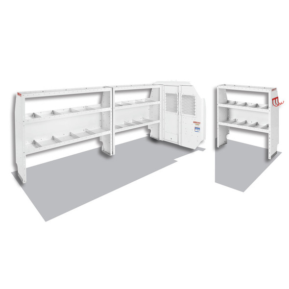 Weather Guard Model 600-8110L Commercial Shelving Van Package, Full-Size, Ford Transit, 148 WB
