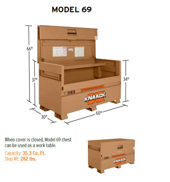 Knaack Model 69 STORAGEMASTER Piano Box, 35.3 cu ft