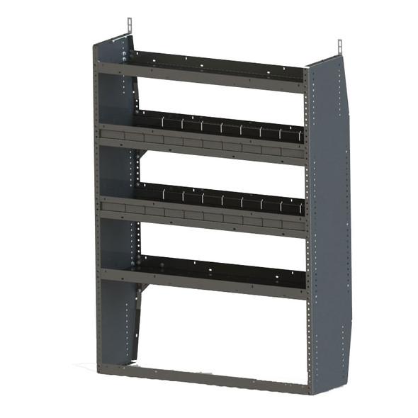 Adrian Steel #HD4459 4-Shelf Unit, 44w x 59h x 14d, Gray