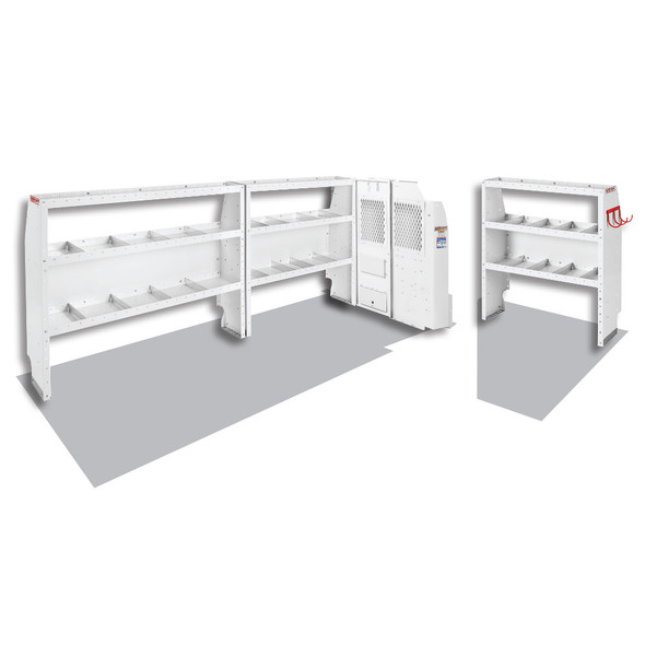 Weather Guard Model 600-8120L Commercial Shelving Van Package, Full-Size, GM Savana, Chevrolet Express, 155 WB