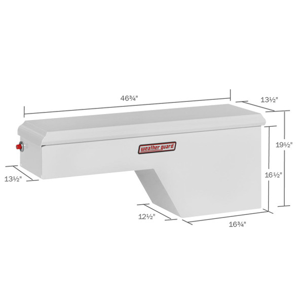 WeatherGuard Model 163-3-01 Pork Chop Box, Steel, Passenger Side, 3.4 cu ft